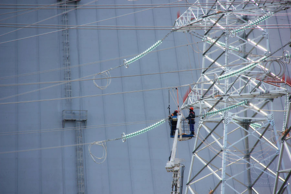 Voltage was supplied at power unit No. 2 of Belarusian NPP for own needs